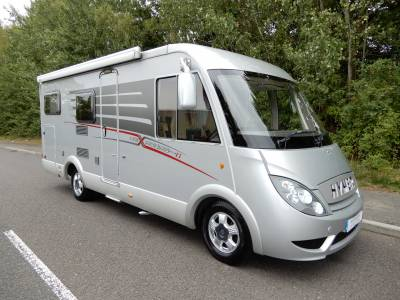 Hymer Exsis 562 Silverline 2011 A Class 4 Berth Rear Garage Rear Fixed Bed Motorhome For Sale Ref 16512