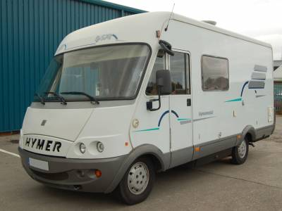 2001 Hymer B574 LHD 'A' Class fixed bed motorhome for sale