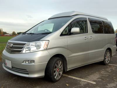 2003 Toyota Alphard Quality Pop Top Camper Conversion with leather upholstery