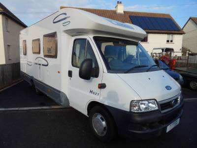 Lunar Champ H621 2005 4 berth fixed rear bed motorhome for sale