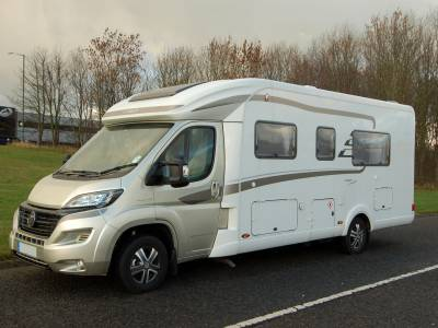 2017 Hymer T 668 CL luxury low profile twin bed motorhome for sale