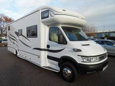 RS Endeavour racehome 2016 conversion 6 berth large garage fixed bed motorhome for sale