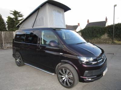 Metallic Blackberry 4 Berth Volkswagen T6 Highline Pop Top Campervan