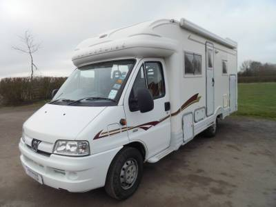 Autocruise Starblazer 4 berth fixed rear bed large garage motorhome for sale