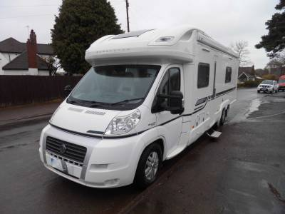 Bessacarr E749 4 berth fixed bed rear washroom tag axle motorhome for sale