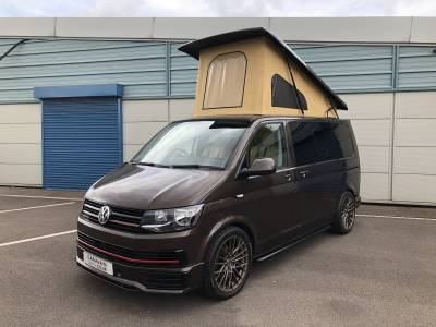 VW T6 Pop Top Luxury BBH Designs 4 Berth Chestnut Brown Trendline Campervan