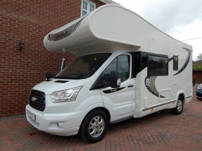 2017 Chausson Flash C646 6 berth family motorhome with bunks