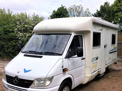 Pilote Pacific 72 low profile (Merc) rear fixed bed motorhome NOW REDUCED