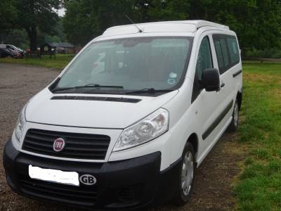 Fiat Scudo conversion 4 seat belts 4 birth