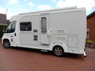 Autocruise Starburst, end bathroom, centre dinette, separate toilet. motorhome for sale.