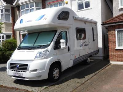 Ace Milano Coach built 5 berth 4 seat belted motorhome