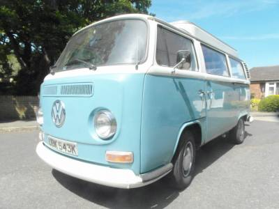 VW T2 Bay Window - Pop Top with Bunk - Petrol - 1972