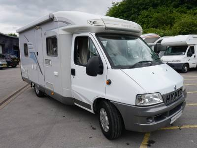 Hymer Tramp GT 575 4 berth rear fixed bed, centre dinette motorhome for sale