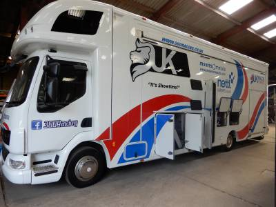 DAF Racetruck 4 Berth 2011 Large Rear Garage Rear Fixed Bed Race Truck Motorhome For Sale