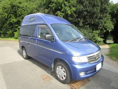 Caribbean Blue Mazda Bongo High Roof Petrol 2 Berth Automatic Camper Campervan