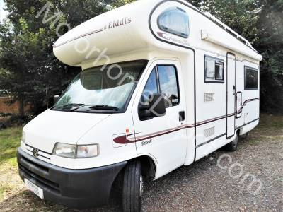 Elddis Autostratus CK SE   4 seat belts, bunk beds, rear L shaped lounge, centre dinette,