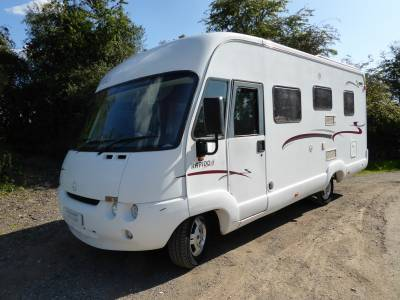 Rapido 986M. 2003. A Class. Rear Fixed Bed. 4 Berth
