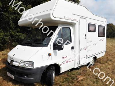 Elddis Autoquest 200   4 Berth, End U shaped lounge, Drive-away awning, Over cab bed