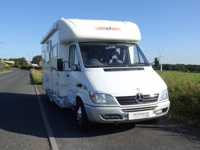 2004 CI Cipro 55 - Mercedes 2.7L Diesel Automatic on Sprinter chassis - Fiamma Privacy Room & Drive away Awning!