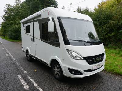 Hymer B444 DL A-Class Rear garage, End kitchen motorhome for sale