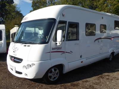 Rapido 9090DF. 2008. A Class. Rear Fixed Bed. 4 Berth