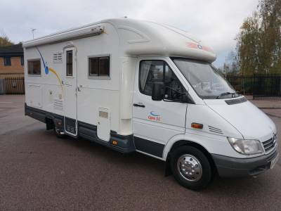 CI Cipro 55 Lowline Mercedes 4 berth Rear fixed bed motorhome for sale