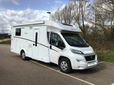 2019 4-berth Dethleffs Trend 7057 EB motorhome for sale with single beds