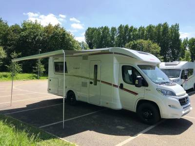 2018 4-berth Dethleffs Trend 7057 DBM motorhome for sale with rear island bed and electric drop down bed