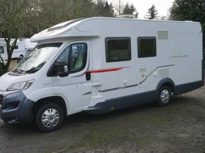 Rollerteam 695p Low profile 3 berth Rear Fixed Island bed motorhome for sale