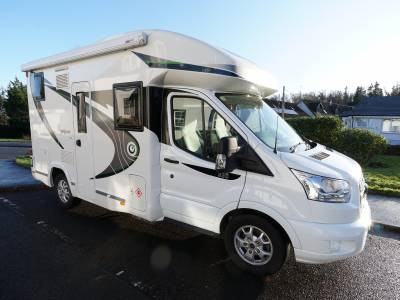 Chausson Welcome 530, Low-profile, 4-Berth, 4-Seatbelts, End Washroom, Electric Drop-down Bed, Motorhome for Sale