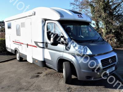 Adria Coral 690 SC Sport - Cab air con, 4 Belts, 4 Berth, Rear fixed bed, Centre dinette, Rear garage, Microwave, Solar panel, Satellite system, Low level entry step