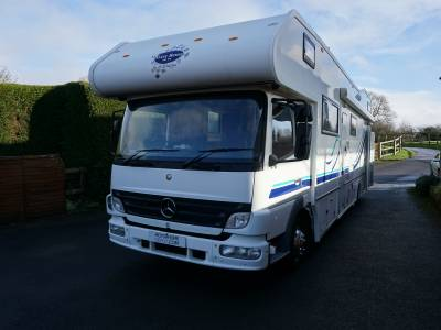 Mercedes 815 Atego 6 berth motor sport race motorhome for sale