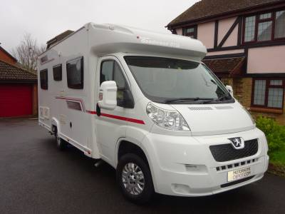 Elddis Goodwood GTM 4 berth with fixed french bed and  4 seat belt Motorhome for sale