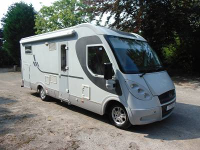 Adria Vision i707SL 4 berth rear fixed singles over large garage motorhome for sale