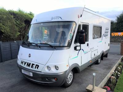 An immaculately clean German built Hymer - oozes quality yet on a budget - Left Hand Drive - 4 berth - 6 seatbelts