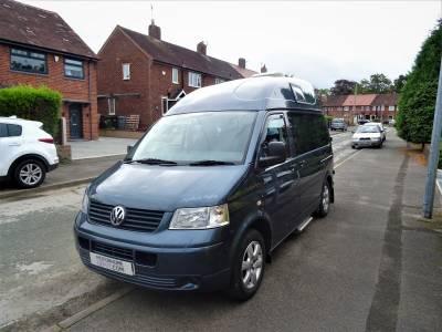 Volkswagen Transporter 2 Berth 4 Travel Seats Rear Kitchen Motorhome Camper Van For Sale