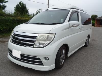 Nissan Elgrand Camper Van - 5 Seats - 2 Berth - Pop Top