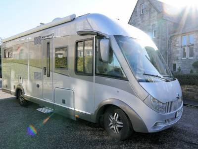 Carthago Chic E-Line 50 Yachting, A-Class, Automatic, 4-Berth, 4 Seatbelts, Fixed Rear Single Beds, Pull Down Over Cab Double Bed, Motorhome for Sale
