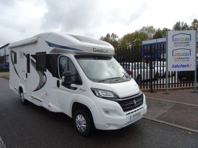 Chausson Welcome 630 VIP 2017 4 Berth 4 Belts Electric Drop Down Single Beds Rear Garage Motorhome For Sale