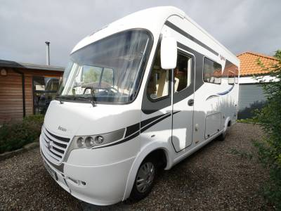 Frankia I640 SD Exclusive, A-Class, 2-Berth, 4-Seatbelts, Over-cab Drop-down Bed, End-washroom Motorhome for Sale