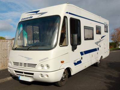 2004 Concorde Concerto I730 A Class 4 berth luxury motorhome with garage