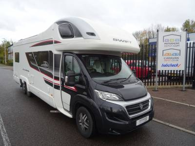 Swift Kon-Tiki 649 Black 2015 Rear Lounge 6 Berth 6 Belts Motorhome For Sale