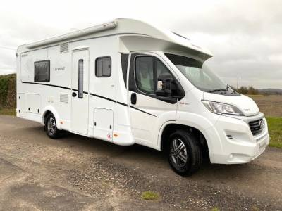 4 Berth Dethleffs T7017 low profile Motorhome For Sale with single beds, registered 2020