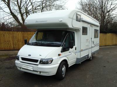 Buccaneer Commodore 4 berth rear U-shaped lounge coachbuilt motorhome for sale