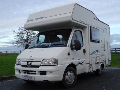 Compass Avantgarde 100, Peugeot 2005, 5 berth, over-cab bed, motorhome for sale.