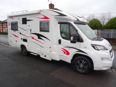 Burstner Solano T615 4 berth, 4 belt, low profile, rear fixed bed, low mileage motorhome for sale
