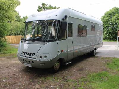Hymer S820 A-class 4 berth rear fix bed motorhome for sale