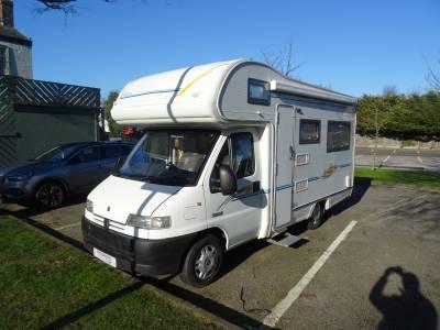 Elddis Sunseeker 25 4 Berth 4 Travel Seats Rear Lounge Motorhome Camper Van For Sale