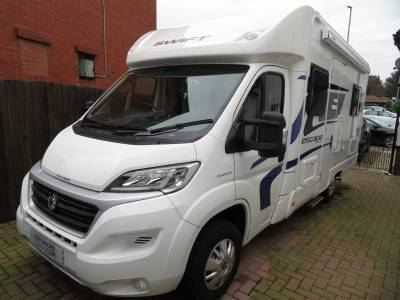 2016 Swift Escape 664, 2483 Miles, 4 Berth, 4 Belted seats
