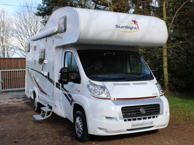 Dethleffs/Sunlight A68 6 berth rear bunk & overcab bed motorhome for sale